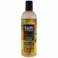 Faith in Nature, Conditioner, For Normal to Oily Hair, Grapefruit & Orange, 13.5 fl. oz (400 ml)