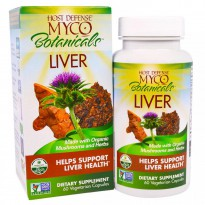 Fungi Perfecti, Host Defense, Myco Botanicals Liver, Helps Support Liver Health, 60 Veggie Caps
