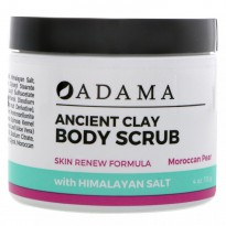 Zion Health, Adama, Ancient Clay, Body Scrub, Moroccan Pear, 4 oz (113 g)