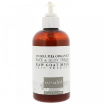 Tierra Mia Organics, Raw Goat Milk Skin Therapy, Face & Body Cream, Unscented, 8 fl oz (226 g)