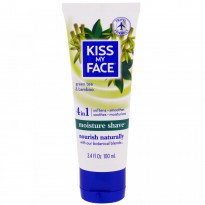 Kiss My Face, Moisture Shave, Green Tea & Bamboo, 3.4 fl oz (100 ml)