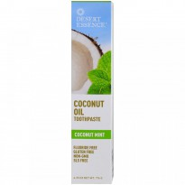 Desert Essence, Coconut Oil Toothpaste, Coconut Mint, 6.25 oz (176 g)