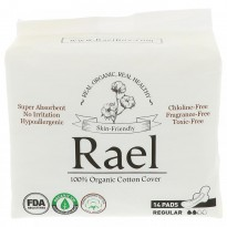 Rael, Inc., Organic Ultra Thin Pads, Regular, 14 Pads