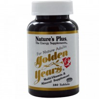 Nature's Plus, Golden Years, Multi-Vitamin & Mineral Supplement, 180 Tablets