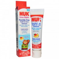 NUK, Fluoride-Free Tooth & Gum Cleanser, Apple & Banana, 1.4 oz (40 g)