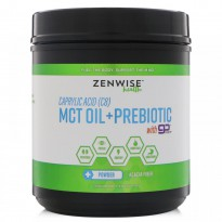 Zenwise Health, Caprylic Acid (C8) MCT Oil + Prebiotic with Go MCT, 15.87 oz (450 g)