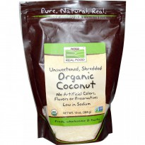 Now Foods, Organic Coconut, Shredded, Unsweetened, 10 oz (284 g)