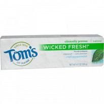 Tom's of Maine, Wicked Fresh! Fluoride Toothpaste, Cool Peppermint, 4.7 oz (133 g)