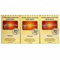 Out of Africa, Pure Shea Butter Bar Soap, Vanilla, 3 Pack, 4 oz (120 g)  Each