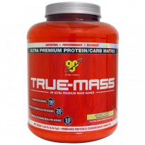 BSN, True-Mass, Powdered Protein & Carbohydrate Drink Mix, Cookies & Cream, 5.82 lbs (2.64 kg)