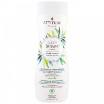 ATTITUDE, Super Leaves Science, Natural Shampoo, Nourishing & Strengthening, Grape Seed Oil & Olive Leaves, 16 oz (473 ml)