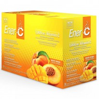 Ener-C, Vitamin C, Effervescent Powdered Drink Mix, Peach Mango, 30 Packets, 10.2 oz (289.2 g)