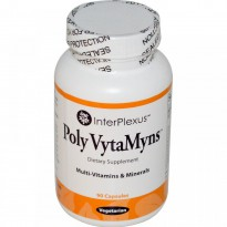 InterPlexus Inc., Poly VytaMyns, Multi-Vitamins & Minerals, 90 Capsules