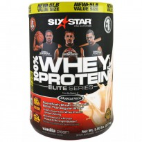 Six Star, Elite Series, 100% Whey Protein Plus, Vanilla Cream, 5.00 lbs (2.27 kg)
