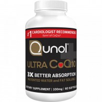 Qunol, Ultra CoQ10, 100 mg, 60 Softgels