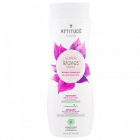 ATTITUDE, Super Leaves Science, Natural Shower Gel, Soothing, White Tea Leaves, 16 oz (473 ml)
