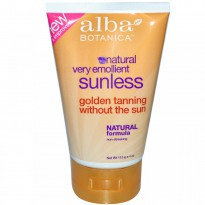 Alba Botanica, Natural Very Emollient, Sunless Tanning Lotion, 4 oz (113 g)