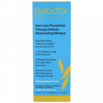 Pura D'or, Hair Loss Prevention Therapy Intense Moisturizing Masque, 8 Packets  - 1.5 fl oz Each