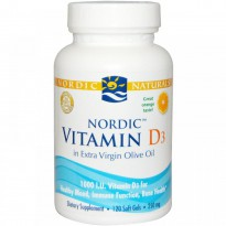 Nordic Naturals, Vitamin D3, Orange, 250 mg, 120 Soft Gels