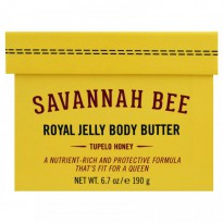 Savannah Bee Company Inc, Royal Jelly Body Butter, Tupelo Honey, 6.7 oz (190 g)