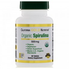 California Gold Nutrition, Spirulina, USDA Certified Organic, Vegetarian, 500 mg, 60 Tablets 3